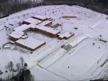 Raw: School buses, buildings remain socked in by snow