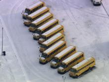 The campus of Granville County High School remained a sea of white Monday, blanketed in snow and ice.
