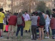 Duke students protest treatment of parking attendant