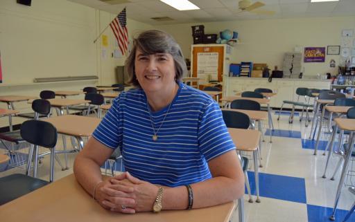 Jalene Bullock, science teacher at West Edgecombe Middle School