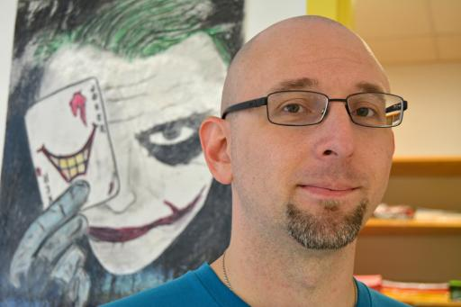 Art teacher Matthew Straub