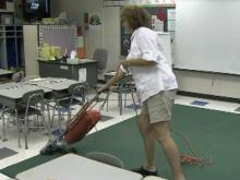Wake parents play 'janitor' as school board tries to find funds