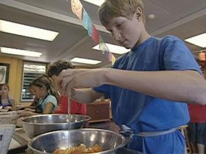 Students at a California middle school grow, harvest and prepare their own food.