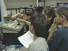 Child newscasters learn problem-solving
