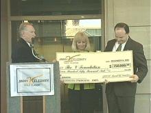V Foundation Presented With Check
