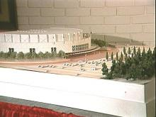 Architect's rendering of proposed arena.