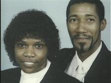 Calvin Jackson, aka Curtis Jackson, with his wife. (WRAL-TV5 News)
