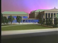 Artist's rendering of the Performing Arts addition to Memorial Auditorium. (WRAL-TV5 News)