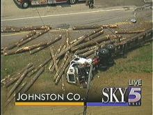 Logging Truck Collides with Tanker in Johnston Co.