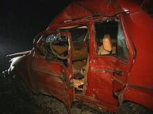 The remnants of Lockamy's car following the crash. (WRAL News)
