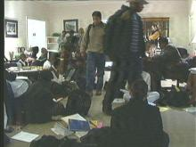 Duke students staged a sit-in Wednesday.