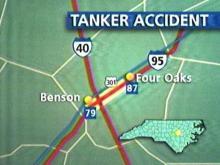 Tanker Spill Closes I-95 Near I-40 Exchange