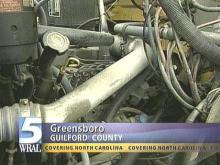 Fumes from leak in a school bus fuel line sickened 14 children who were passengers on the bus Friday. (WRAL-TV5 News)