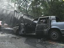 This van and car collided head-on when the driver of the van fell asleep at the wheel. (WRAL-TV5 News)