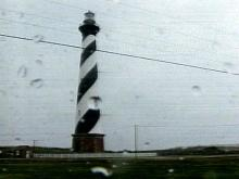 Outer Banks Take a Beating, Lighthouse Weathers Storm