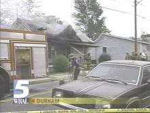 Law officers believe arson caused the fire at this house (WRAL-TV5 News)