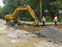 Water Main Breaks in Chapel Hill, Road Closed