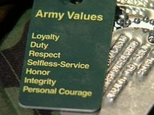 Loyalty, duty, respect, selfless-service, honor, integrity and personal courage are values to which soldiers at Fort Bragg Military Base are being re-introduced.(WRAL-TV5 News)