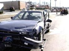 Three cars were involved in a Sunday afternoon collision in Durham(WRAL-TV5 News)