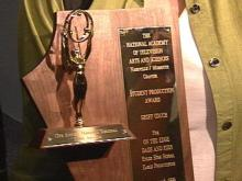 The Emmy Award was awarded to Enloe High School for their documentary focusing on teenage fathers.(WRAL-TV5 News)