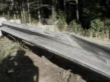 A car carrying six people crashed into this guardrail Sunday, leaving a child in critical condition.(WRAL-TV5 News)