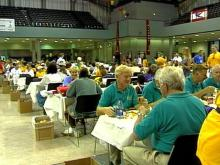 Time for the volunteers to relax, swap stories and get a special thank-you.(WRAL-TV5 News)