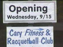 The Cary Fitness and Racquetball Club reopens Sept. 15.(WRAL-TV5 News)