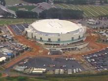 Workers Prepare Arena for Oct. 29 Opening
