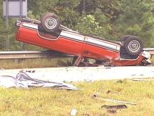 The driver of this pickup died after losing control of his vehicle.(WRAL-TV5 News)