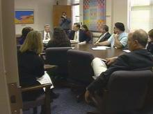 Friday's meeting produced a heated exchange.(WRAL-TV5 News)