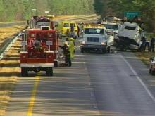 Tractor Trailer Accident Closes Highway 64 in Wendell Tuesday Morning
