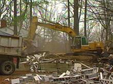 Cary Tears Down 2 Abandoned Homes
