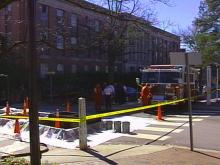 A small explosion at Withers Hall sent a female staff member to the hospital with minor burns.(WRAL-TV5 News)