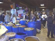 The Scrap Exchange opened its doors Saturday at a warehouse on Foster Street. Parents and kids sorted through barrels of castoffs they can use for art projects.(WRAL-TV5 News)