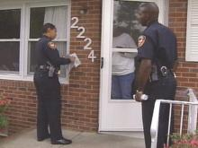 Durham Police Officers Take Door-to-Door Approach In Crime Prevention