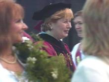 Dr. Maureen Hartford is the first female president of the largest private women's college in the southeast.(WRAL-TV5 News)