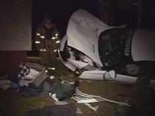 Fatal Johnston Crash Flips Car Into House