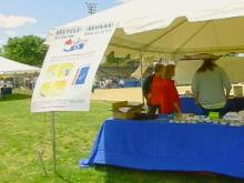 Booths were set up at the old Durham Bulls Athletic Park as residents celebrated the 30th anniversary of Earth Day.(WRAL-TV5 News)