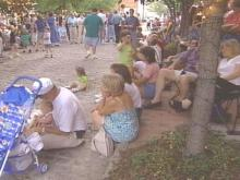 Hundreds of people show up the first Friday of every month at Moore Square in Raleigh for fun and entertainment.(WRAL-TV5 News)