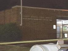 A customer found a person dead in the lobby of a post office Thursday on Beryl Road.(WRAL-TV5 News)