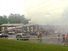 No one was injured in the early morning fire.(WRAL-TV5 News)