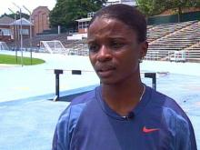 Chapel Hill's Nicole Gamble has her sights set on gold at the 2000 Summer Olympics.(WRAL-TV5 News)