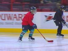 Hockey Camp Brings Kids, 'Canes Together