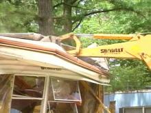 Deputies decided to combat crime by wiping out a mobile home park, known as a haven for drug dealers.(WRAL-TV5 News)