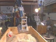 N.C. State Researchers Operate Remote-Controlled Backhoe Via Internet