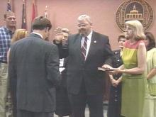 Milo McBryde was sworn in Monday as the new mayor of Fayetteville.(WRAL-TV5 News)