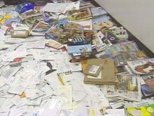 Hundreds of letters, bills, magazines and packages were discovered.(WRAL-TV5 News)