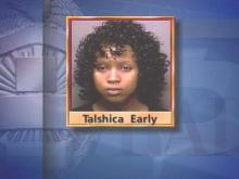 Talshica Early was arrested and charged with misdemeanor child abuse Wednesday night in the Baby Jarrod case.(WRAL-TV5 News)