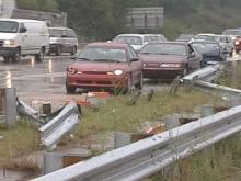 Rush hour slowed to a crawl Friday because there were too many wrecks and enough officers to go around.(WRAL-TV5 News)