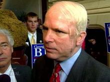 Sen. John McCain (R-Az.) in Raleigh for a Richard Vinroot fund-raiser Saturday morning.(WRAL-TV5 News)